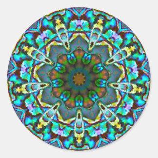 Adesivo Redondo Fractal Opalescent da beleza