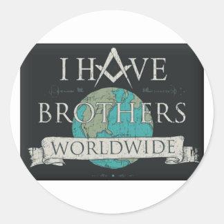 Adesivo Redondo Fraternidade mundial