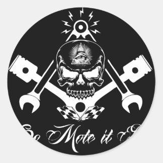 Adesivo Redondo Freemason-Widows-Sons-Masonic-Hotrod-Logo-20160407