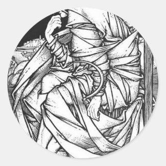 Adesivo Redondo Frey assentou no trono de Odin