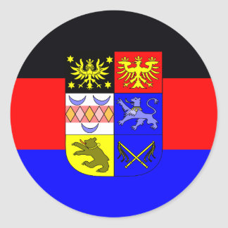 Adesivo Redondo Frisia do leste, bandeira