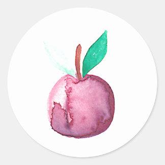 Adesivo Redondo Fruta do hipster