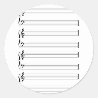 Adesivo Redondo Funcionarios e Staves musicais