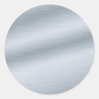 Adesivo Redondo Fundo de prata escovado do olhar