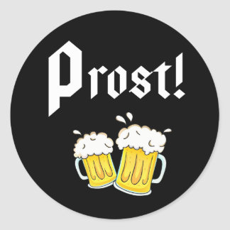 Adesivo Redondo Funny Prost Beer Oktoberfest festa