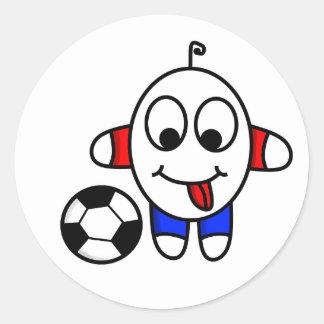 Adesivo Redondo gajo engraçado do futebol