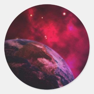 Adesivo Redondo Galáxia roxa 2 - purple galaxy