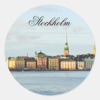 Adesivo Redondo Gamla Stan em Éstocolmo, suecia