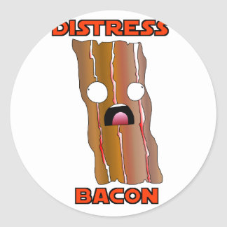 Adesivo Redondo Ganhos do bacon da aflição