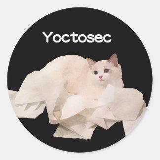 Adesivo Redondo Gato da iluminação de Yoctosec