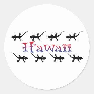 Adesivo Redondo gecos do hawai