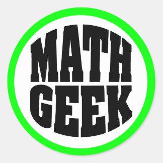 Adesivo Redondo Geek da matemática