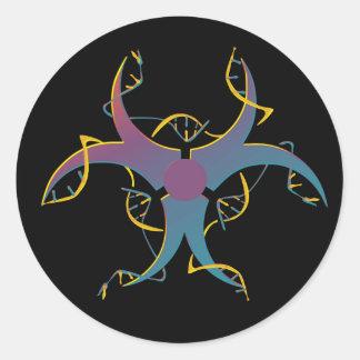 Adesivo Redondo Gene que emenda o bio símbolo do perigo