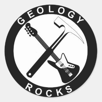 Adesivo Redondo Geology Rocks Adhesive S