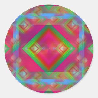 Adesivo Redondo Geométrico