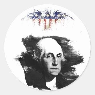Adesivo Redondo George Washington