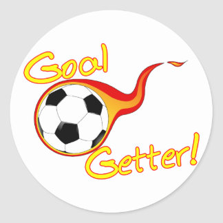 Adesivo Redondo Getter do objetivo do futebol