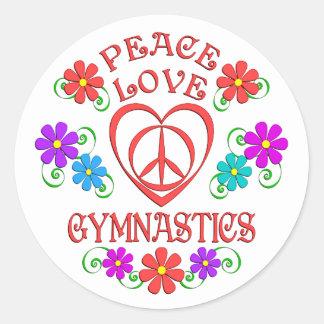 Adesivo Redondo Ginástica do amor da paz