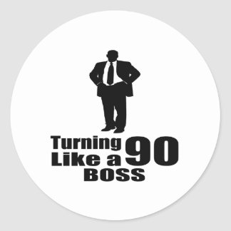 Adesivo Redondo Girando 90 como um chefe