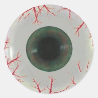 Adesivo Redondo Globo do globo ocular do Dia das Bruxas do matiz