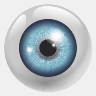 Adesivo Redondo Globo ocular azul