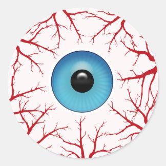 Adesivo Redondo Globo ocular Bloodshot assustador