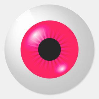Adesivo Redondo Globo ocular cor-de-rosa