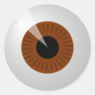 Adesivo Redondo Globo ocular de Brown