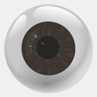 Adesivo Redondo Globo ocular de Brown escuro