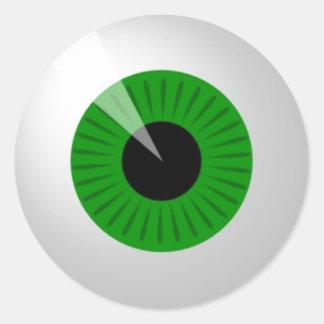 Adesivo Redondo Globo ocular verde