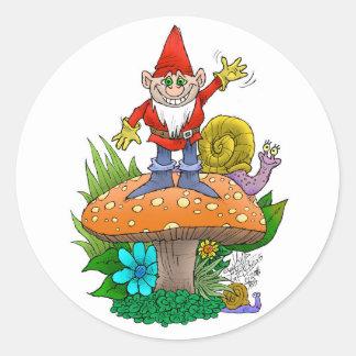 Adesivo Redondo Gnome.jpg de ondulação