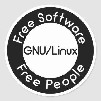Adesivo Redondo GNU/Linux