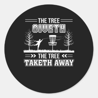 Adesivo Redondo Golfe ausente do disco de Taketh da árvore de