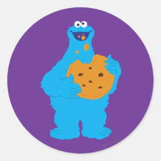 Adesivo Redondo Gráfico do monstro do biscoito