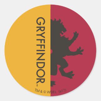 Adesivo Redondo Gráfico do orgulho da casa de Harry Potter |