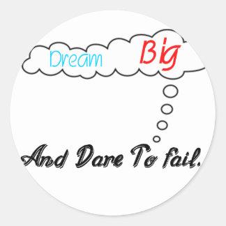 Adesivo Redondo Grande ideal e desafio a falhar