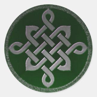 Adesivo Redondo gre irlandês pagão do símbolo antigo celta de