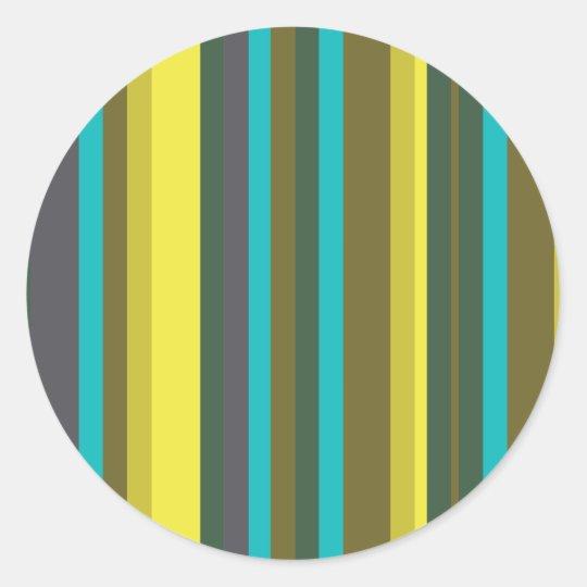 Adesivo Redondo Green_stripes