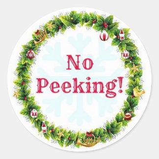 Adesivo Redondo Grinalda do Natal nenhum espreitar