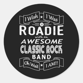 Adesivo Redondo Grupo de rock clássico impressionante de ROADIE