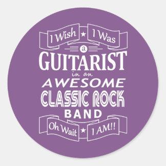 Adesivo Redondo Grupo de rock clássico impressionante do