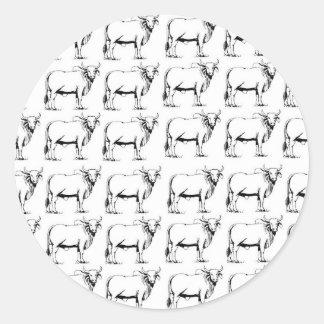 Adesivo Redondo grupo de touros maus