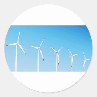 Adesivo Redondo Grupo de turbinas eólicas