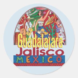 Adesivo Redondo GUADALAJARA México