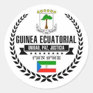 Adesivo Redondo Guiné Equatorial