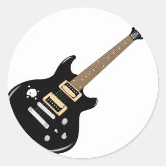 Adesivo Redondo Guitarra elétrica