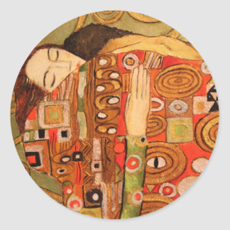 Adesivo Redondo Gustavo Klimt