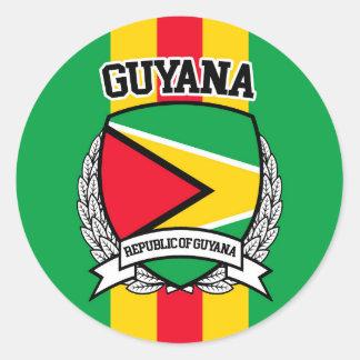 Adesivo Redondo Guyana