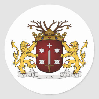 Adesivo Redondo Haarlem wapen, Países Baixos