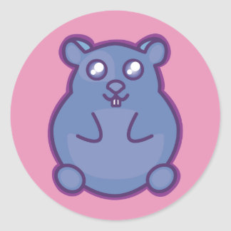 Adesivo Redondo Hamster roxo